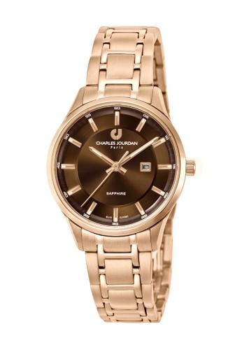 Charles Jourdan gold Charles Jourdan Women CJ1051-2542 Rose Gold Stainless Steel Watch 5395EACD66CB5CGS_1