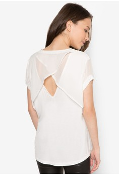 Back Detail V Neck Tee