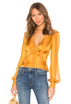 fccfd3da8a House of Harlow 1960 yellow X REVOLVE Bernadette Blouse 803F6AAABFEB4EGS 1