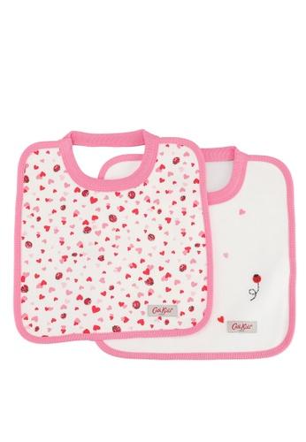 Cath Kidston beige Mini Lovebugs 2pk Square Bibs E9816KC1E2643AGS_1