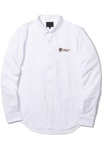 MUSIUM DIV white Emblem embroidered shirt 20D69AA9C59868GS_1