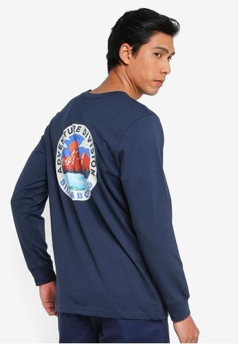 Billabong navy Adiv View Long Sleeves Tee 2FDCDAA0205C7BGS_1
