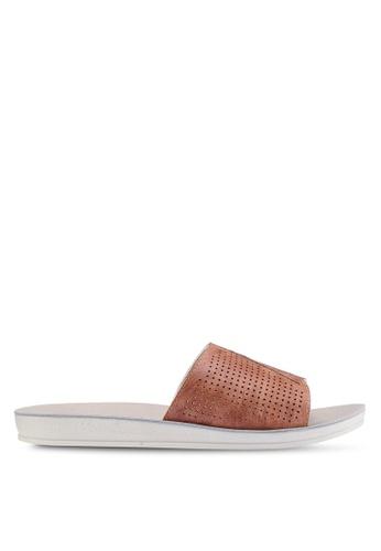Noveni 褐色 雕紋涼鞋 62BAESH03B74F0GS_1