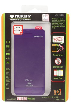 Mercury Case Anti-fingerprint Color Film iPhone 5 [Purple]