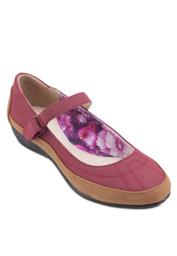 Sabra Mary Jane 雙色平底鞋, 女鞋, esprit 香港 outlet芭蕾平底鞋