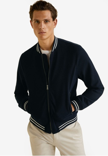2fdfd648d Contrast Striped Bomber Jacket
