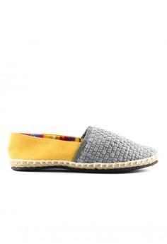Habi Footwear Women's Classic Espadrilles - Gray/Yellow