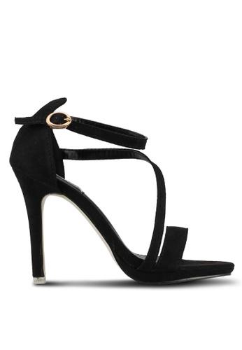 Mimosa black Asymmetrical Heels 6484BSH0B4C0B7GS_1