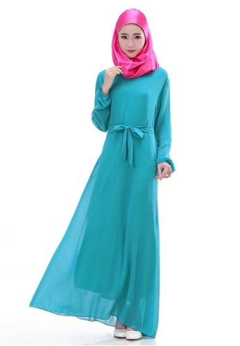 SMROCCO blue Muslimah Sky Blue Basic Jubah Dress MW6012-SKYBLU  SM066AA30NHDMY 1 cf707026bb