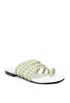 e5ec4ee360a Mario D  boro Runway white Camille Flat Sandals F37DDSH5B3C627GS 1