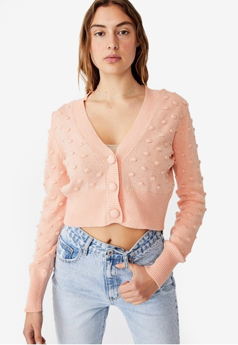 Cotton On pink Knobbly Cardigan FA143AA706386DGS_1