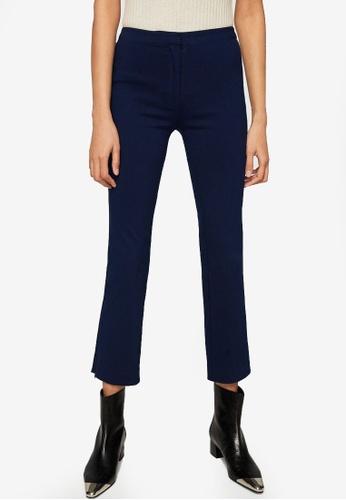 Mango blue Zipped Straight Trousers 0D9B3AA53733AEGS_1