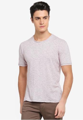 Sisley 紅色 橫條紋短袖T恤 DCDE7AA11AE7CDGS_1