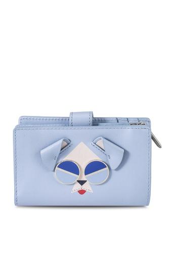 kate spade new york blue Mod Dog Medium Bifold Wallet (cv) C410EAC76A71B6GS_1