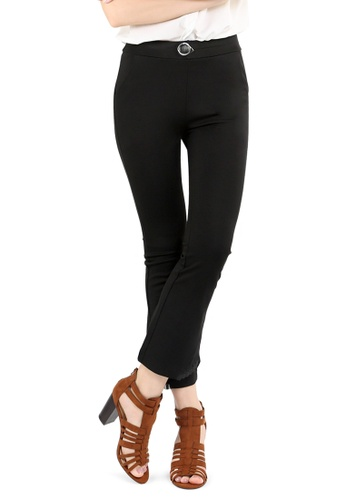 London Rag black Black Casual Boot-Cut Pants 8BC0CAA2F98A69GS_1