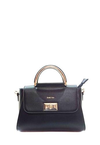 SEMBONIA black SEMBONIA Synthetic Leather Satchel Bag CFD67AC25C875DGS_1