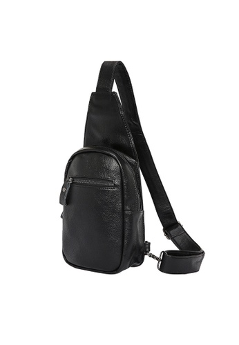 Lara black Plain Zipper Cross Body Bag - Black 6A8C2AC9059DE0GS_1
