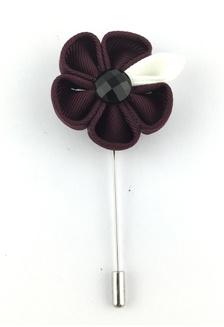 d6114f06ec6 Buy Splice Cufflinks Pink PU Leather Camellia Flower Lapel Pin ...