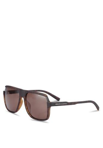 Armani Exchange brown Armani AX4066SF Sunglasses AR162GL0RLY1MY_1