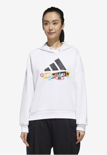 ADIDAS white ur hooded sweatshirt A5223AA463C040GS_1