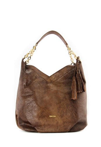SEMBONIA brown SEMBONIA Synthetic Leather Hobo Bag F7953ACA655651GS_1