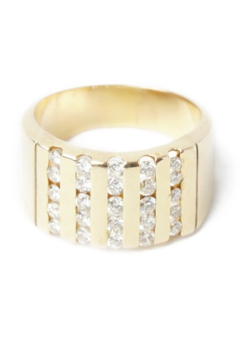 CEBUANA LHUILLIER JEWELRY gold 14K Karat Yellow Gold Lady Ring With Diamonds 5562BAC1454341GS_1