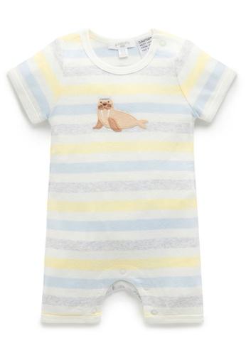 Purebaby blue Sailor Short Growsuit 942D7KAC828576GS_1