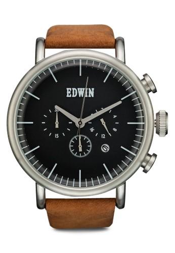 ELEMENT 計時真皮圓框裱, 錶類, 計esprit香港分店時型