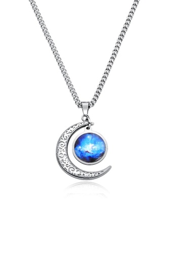 ADORA blue Stainless Steel Dangle Pendent Necklace 4FF24AC0CBC770GS_1