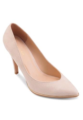 金esprit outlet 家樂福屬邊尖頭細跟高跟鞋, 女鞋, 鞋