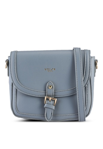 Unisa blue Faux Leather Sling Bag With Flap Over EEF36ACA515760GS_1