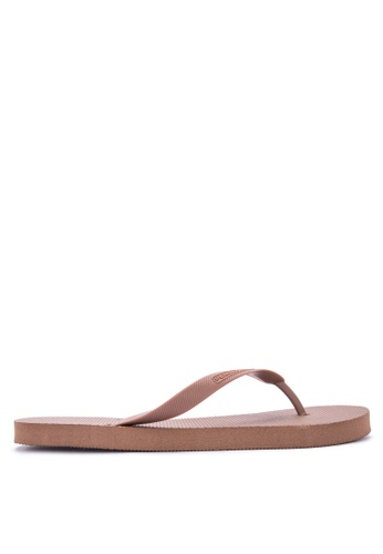Penshoppe brown Solid Shade Rubber Flip Flops D25D0SH2B67887GS_1