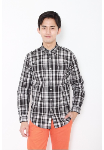 Dockers black Dockers Long Sleeve Laundered Poplin Shirt Rocky Black E05D4AA084777CGS_1