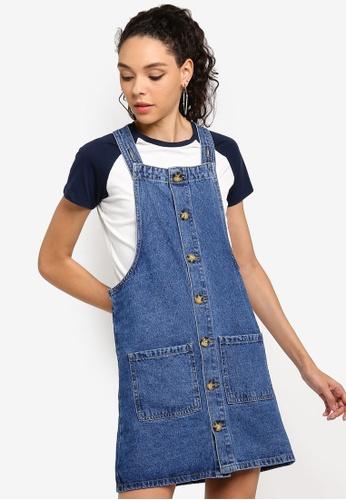 Dotty Dungarees Summer Blue Denim Dress Brand New RRP £36.00