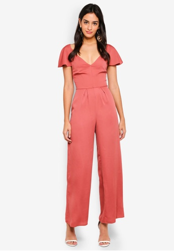Miss Selfridge brown Cinnamon Cape Jumpsuit 306B4AA512EA67GS_1