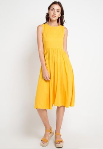 Just Jo Design orange Fania Dress Plain 67951AA4C15682GS_1