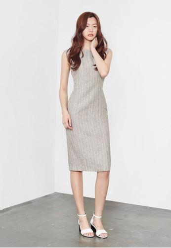 條紋及膝洋裝, esprit 衣服服飾, 洋裝