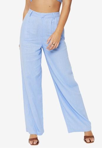 Supre blue Kendall Wide Leg Pants 35B6AAA9ACAD9AGS_1