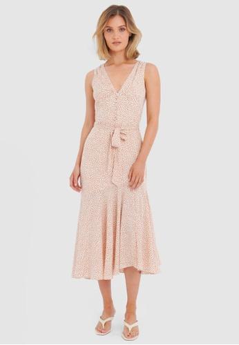 FORCAST white Naia Tie-Waist Dress 03CBDAA8269099GS_1