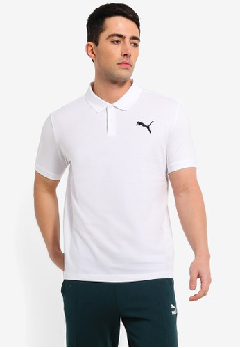 PUMA white Sportstyle Core Essentials Pique Polo 64B6AAADE7B642GS_1