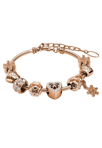 Her Jewellery gold Her Jewellery Feliz Charm Bracelet (Rose Gold) with Premium Grade Crystals from Austria EFDE4AC9A1D849GS_1