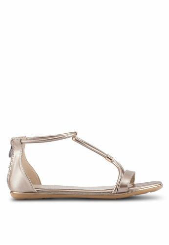 VINCCI gold Strappy Sandals B64CBSH1538E40GS_1