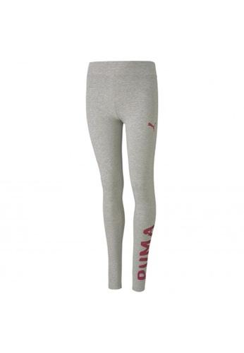PUMA grey Alpha Girls' Leggings 958C0KA15AAD3FGS_1