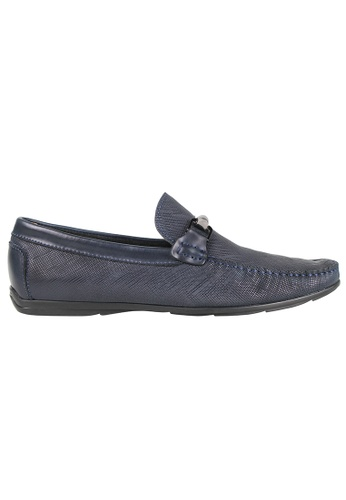 Tomaz blue Tomaz C283 Front Buckle Loafers (Navy) 4B003SH9C23913GS_1