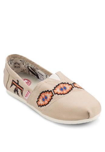 Binesi 幾何圖形懶zalora taiwan 時尚購物網鞋子人鞋, 女鞋, 鞋