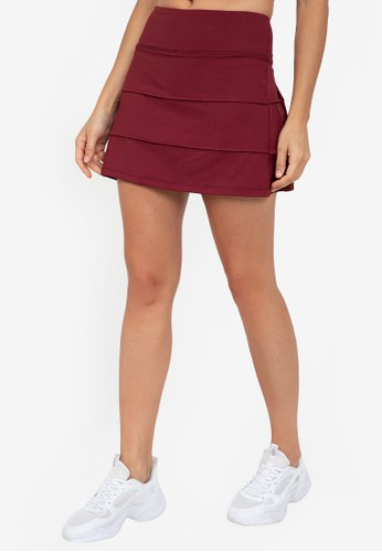 ZALORA ACTIVE red 3-Panelled Skirt 3D6E8AA0F90F48GS_1