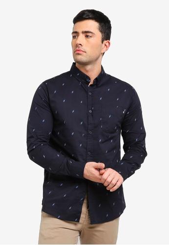 Cotton On 海軍藍色 休閒襯衫 49141AA4416CDCGS_1