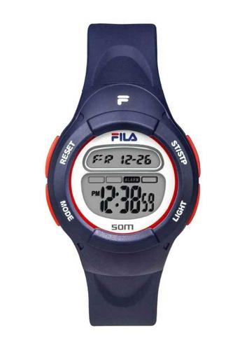 FILA Watches blue Fila Digital Blue Rubber Watch FBDCBAC25F6A4AGS_1