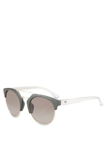 Emporio Armani green Emporio Armani EA4092F Sunglasses EM212GL0RNIIMY_1
