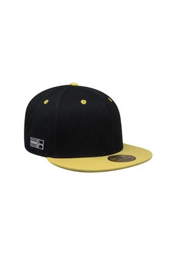 Snapback black Snapback Topi Hiphop Dewasa Black Yellow 5FF39ACCA03A63GS 1 60d1731837
